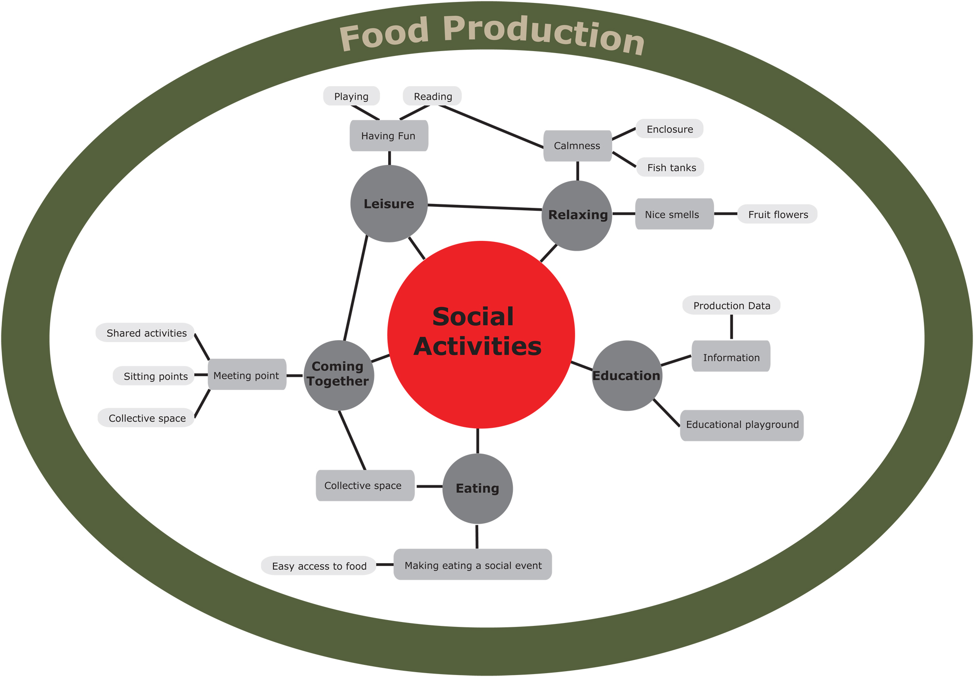 The Urban Agriculture activities' diagram as formed for the current project.