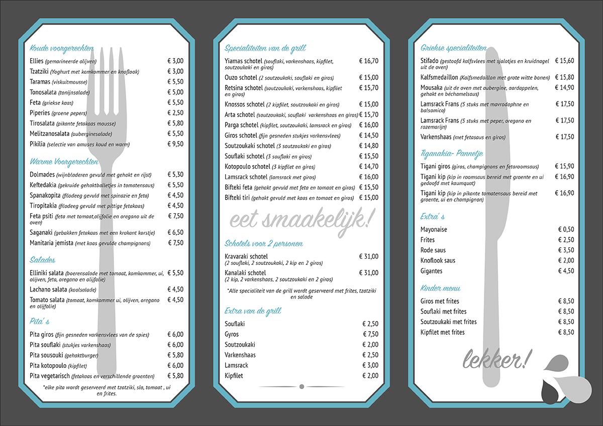 Grk Greek Kitchen Bar Menu